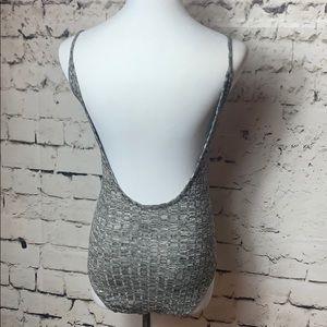👠PacSun LA Hearts Gray Bodysuit Small